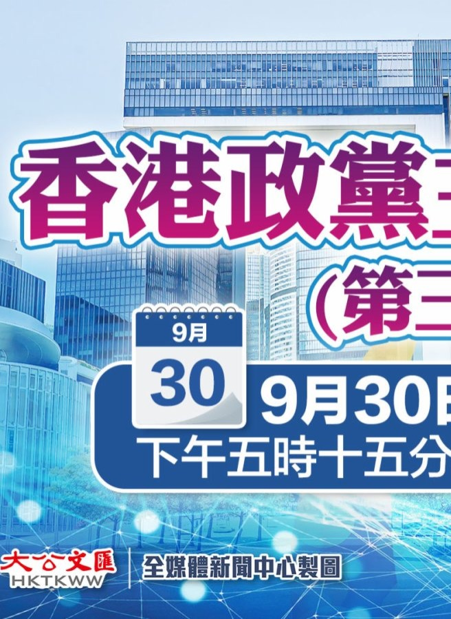 「香港政黨主席論壇」- 選委會選舉結果評析「節目預告」