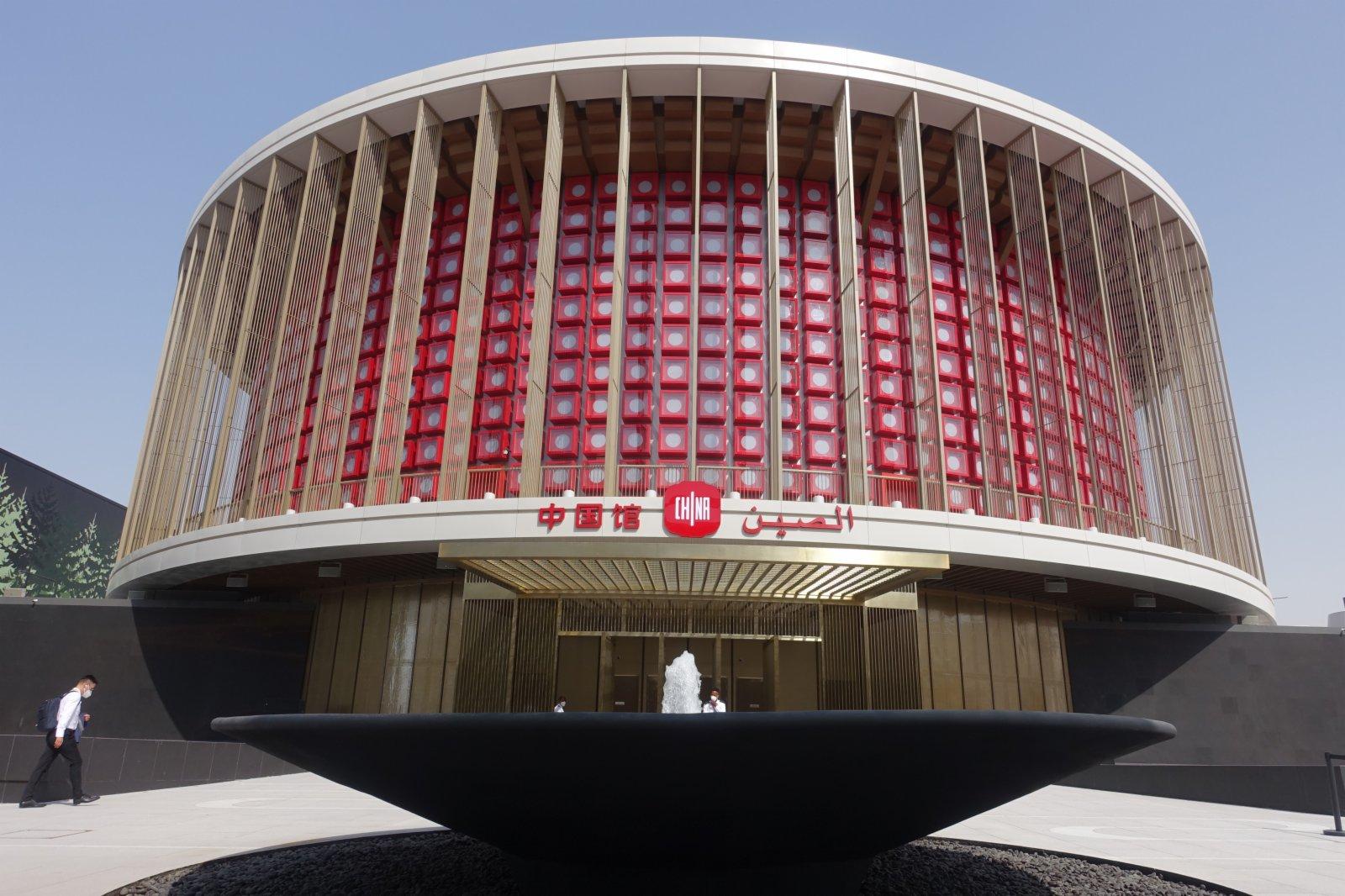 迪拜世博會中國館外景。(新華社)